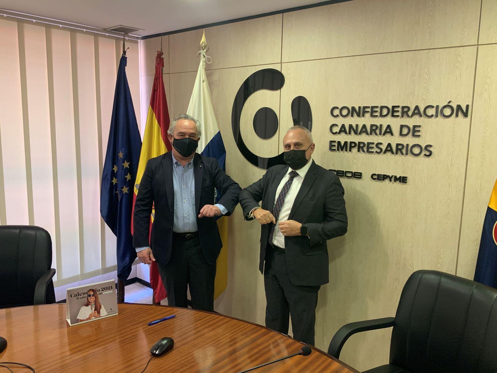 La Confederación Canaria de Empresarios se adhiere a la iniciativa #MovilizaciónPorElEmpleo del Grupo Adecco