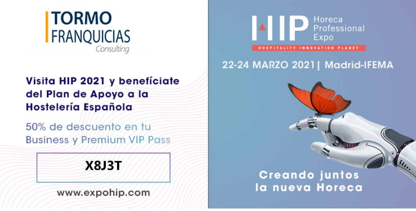 Tormo Franquicias participa en una edición de HIP 2021 sin precedentes para ayudar a la hostelería española