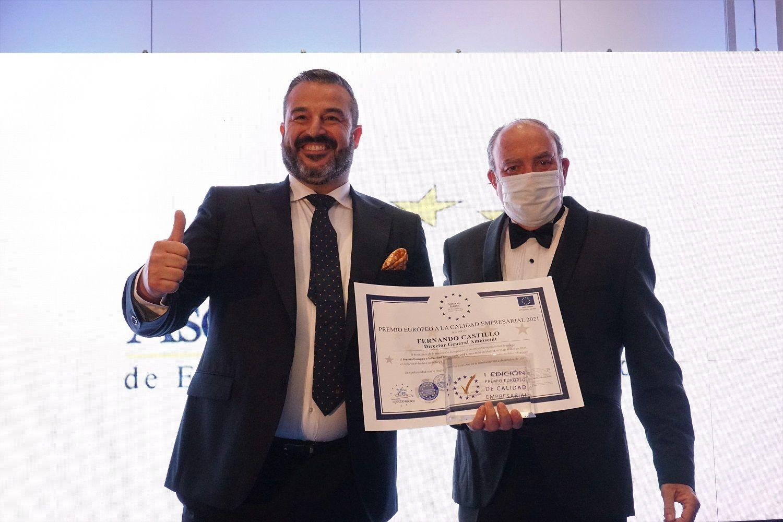 Ambiseint recibe el Premio Europeo a La Calidad Empresarial 2021