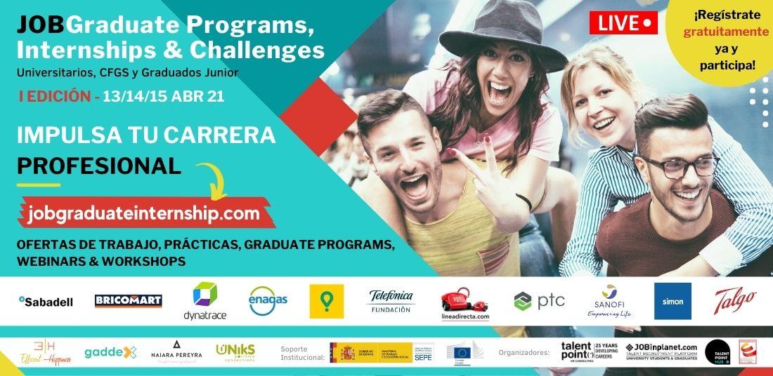 Empresas que apuestan por el TALENTO JUNIOR se darán cita en JOBGraduate&Internships del 13 al 15 de abril