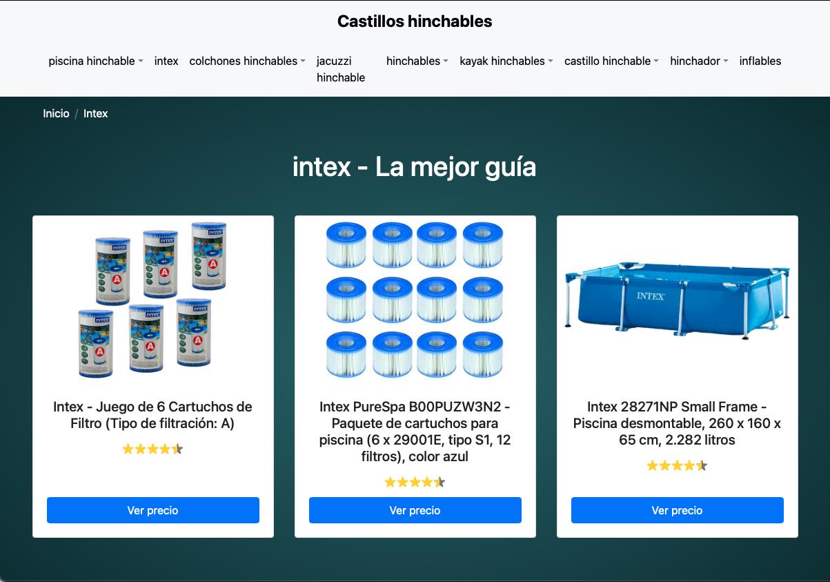 Nace Castillohinchable.net, la nueva web para comparar piscinas hinchables