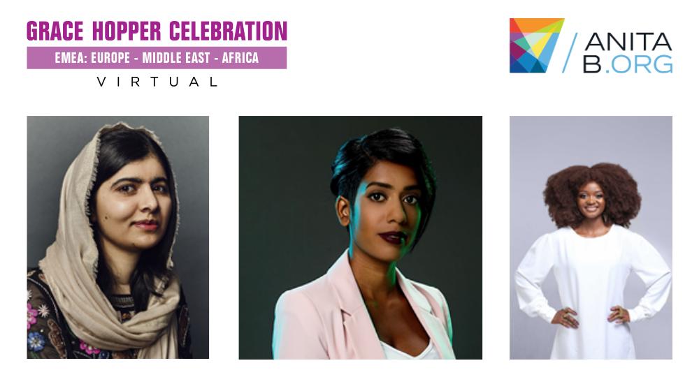 AnitaB.org anuncia la participación de Malala Yousafzai en la Virtual Grace Hopper Celebration