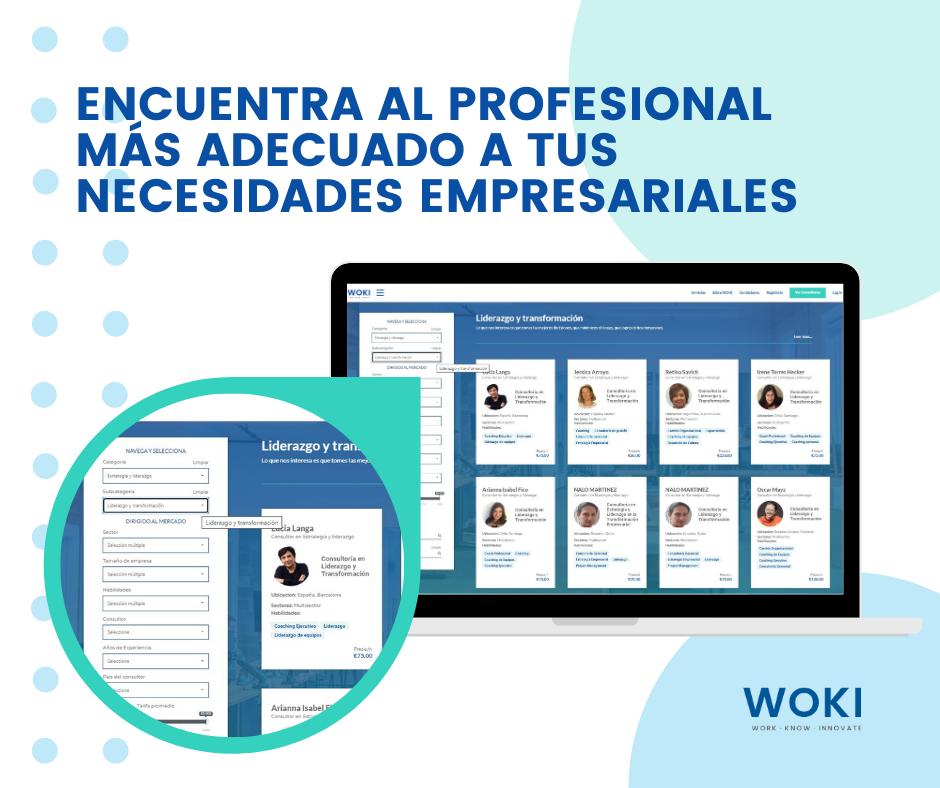 Nace Woki, la 1ªplataforma online de habla hispana para contratar consultores empresariales