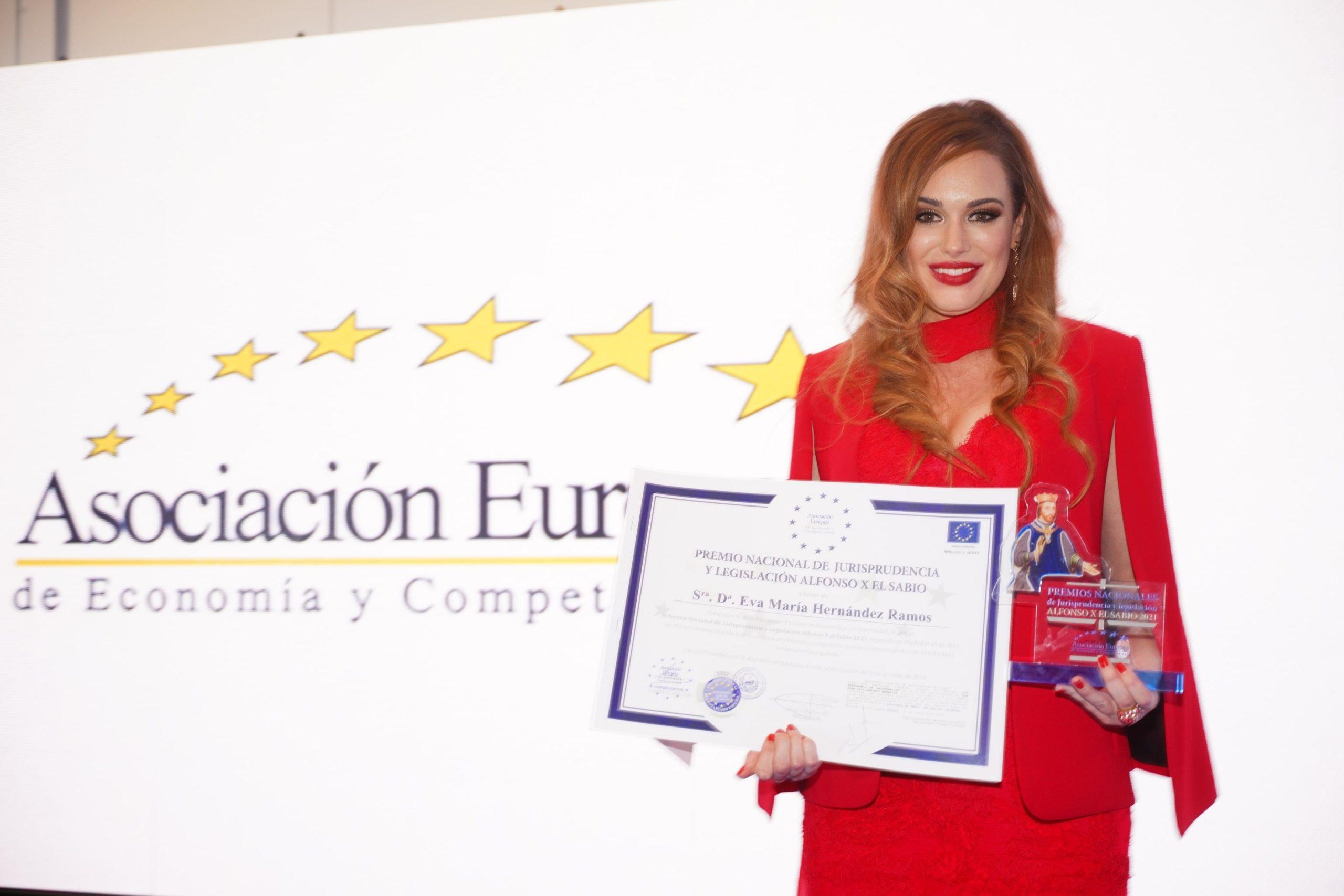 Premio Nacional de Jurisprudencia y Legislación Alfonso X El Sabio 2021, para Eva María Hernández Ramos