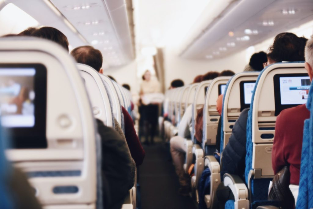 Foto de Viajeros en avión