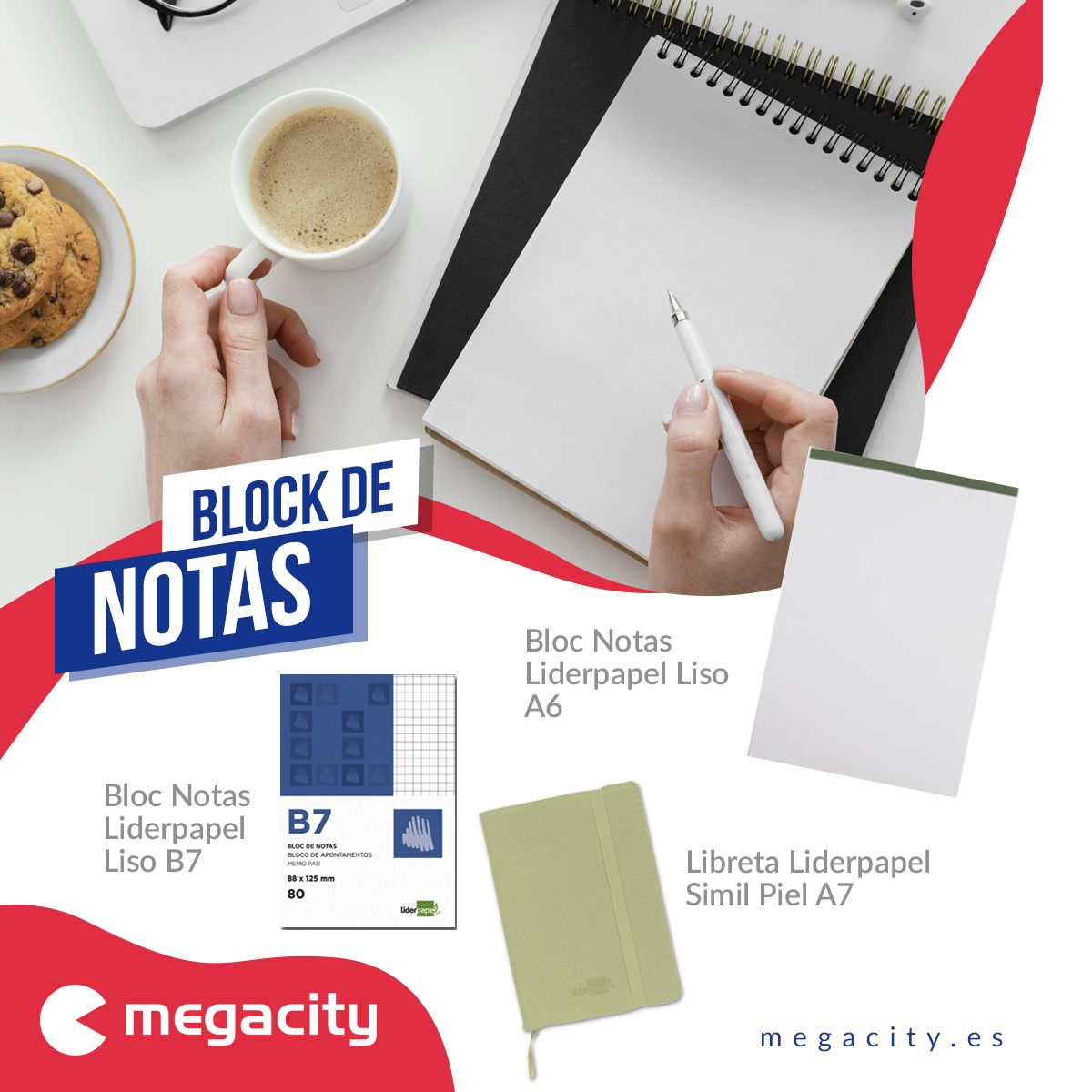 Megacity ofrece una amplia variedad de blocs de notas