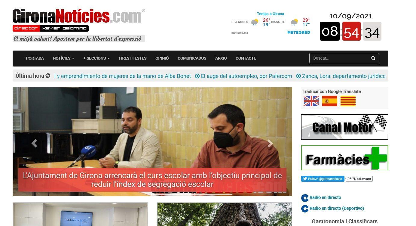 El portal Girona Noticias cumple 16 años mirando a nuevos horizontes