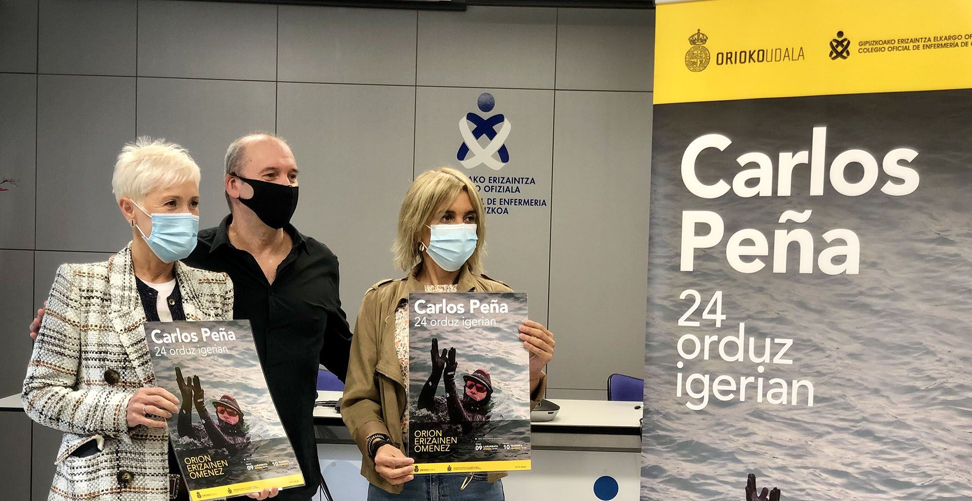 Carlos Peña realizará una travesía a nado 24 horas en Orio en homenaje a las enfermeras de Gipuzkoa