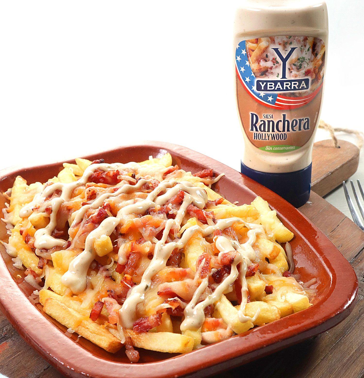 Las patatas fritas con Salsa Ranchera Ybarra son todo un éxito